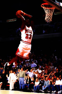 Michael Jordan In Flight 7c Poster