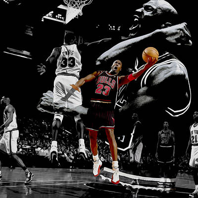 Michael Jordan Left Hand II Poster by Brian Reaves