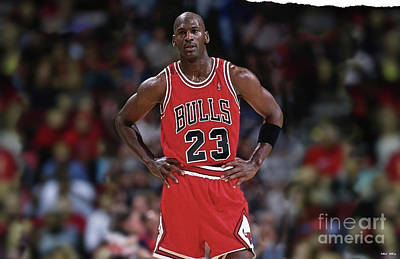 Michael Jordan, Number 23, Chicago Bulls Poster by Thomas Pollart