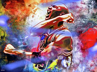 Michael Jordan Painted Poster by Daniel Janda