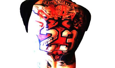 Michael Jordan Super Fan Tattoo  Poster