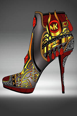 Michael Kors Shoe Illustration No. 2 Poster by Kenal Louis