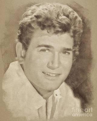 Michael Landon, Vintage Actor By John Springfield Poster
