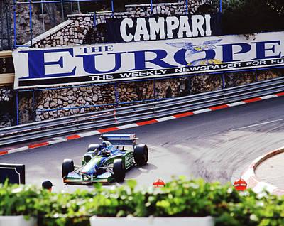 Michael Schumacher After Winning 1994 Monaco Gp Poster by John Bowers