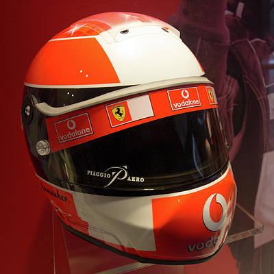 Michael Schumacher Helmet Museo Ferrari Poster by Paul Fearn