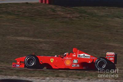 Michael Schumacher. 1999 Pre Season Test Poster by Oleg Konin