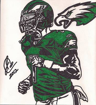 Poster featuring the drawing Micheal Vick by Jeremiah Colley