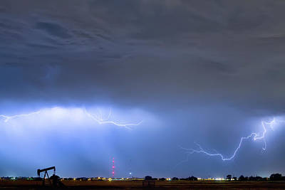 Poster featuring the photograph Michelangelo Lightning Strikes Oil by James BO Insogna