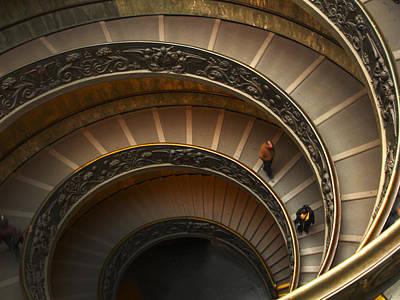 Michelangelo's Spiral Stairs Poster