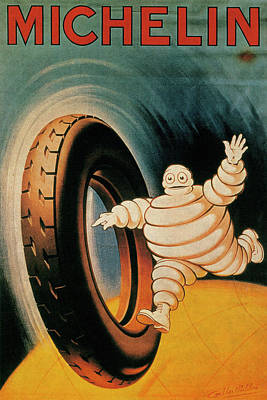 Michelin Tires Vintage Art Poster Poster