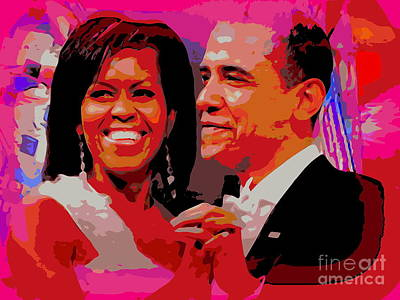 Michelle And Barack Poster by Ed Weidman