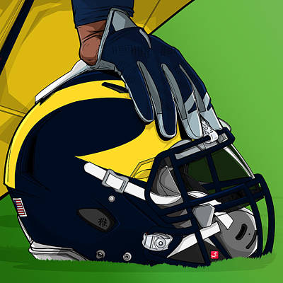 Michigan College Football Poster