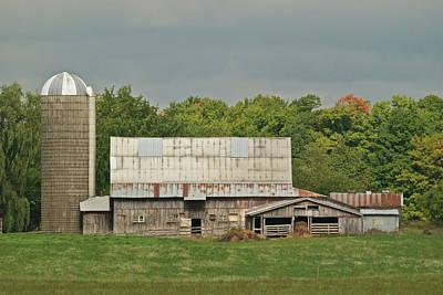 Michigan Dairy Barn Poster by Michael Peychich