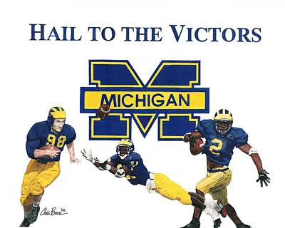 Michigan Heismans Poster by Chris Brown
