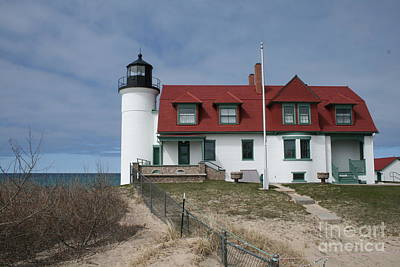 Poster featuring the photograph Michigan Lighthouse II by Gina Cormier