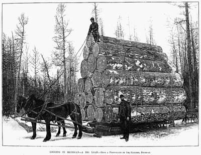 Michigan: Lumbering Poster