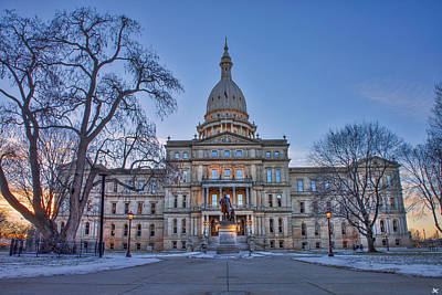 Poster featuring the photograph Michigan State Capitol by Nicholas Grunas
