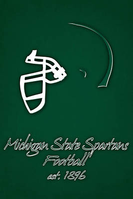 Michigan State Spartans Helmet Poster