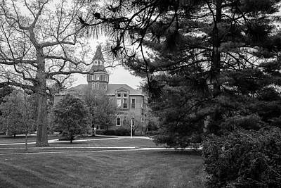 Michigan State University Campus Black And White  Poster