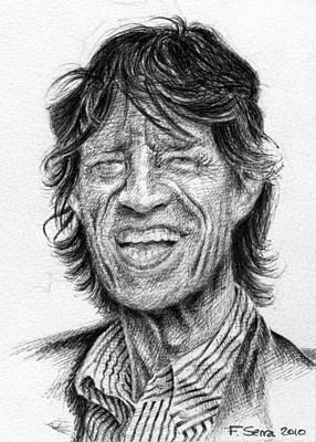 Mick Jagger Poster by Ferran Serra