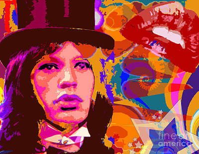 Mick Jagger Flying Circus Poster by Michael Eddington
