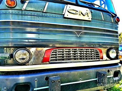Mid Century Gm Greyhound Bus Front Grill  Poster
