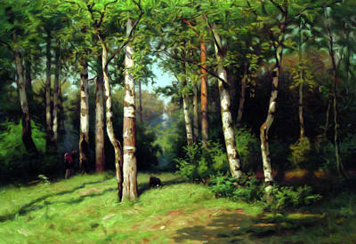Midday Warmth In A Forest Impressionism Poster