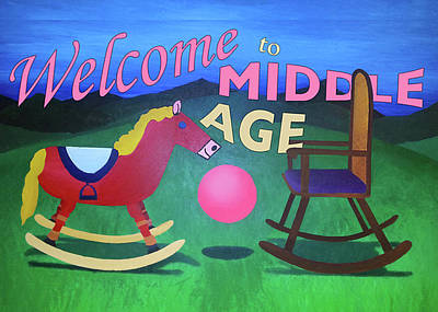 Middle Age Birthday Card Poster