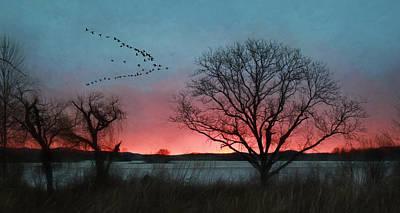 Middle Creek Sunrise 4 Poster by Lori Deiter