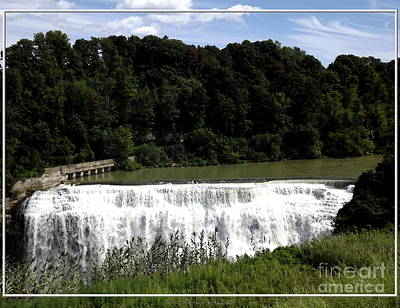 Poster featuring the photograph Middle Falls In Rochester New York by Rose Santuci-Sofranko