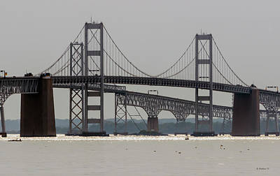 Middle Of Chesapeake Bay Bridge Poster