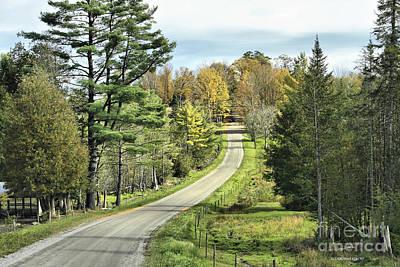 Middle Road In Autumn Poster by Deborah Benoit