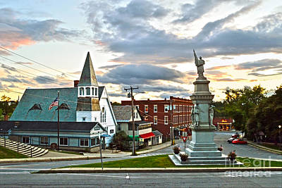 Middlebury Vermont At Sunset Poster by Catherine Sherman