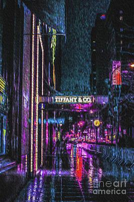 Midnight At Tiffany Painting Poster