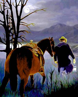 Midnight Ride Poster by Ron and Ronda Chambers