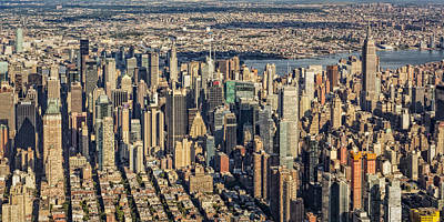 Midtown Manhattan Nyc Aerial View Poster by Susan Candelario