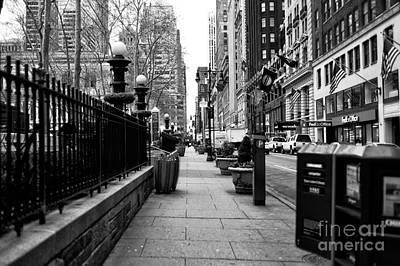 Midtown Sidewalk Poster by John Rizzuto