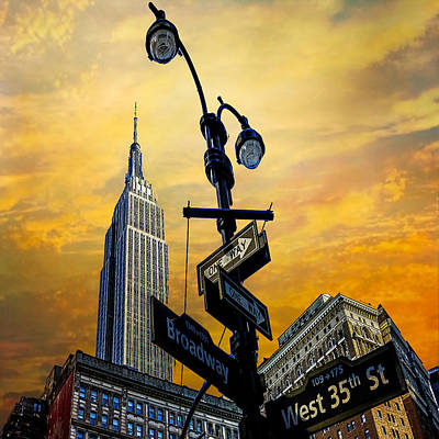 Midtown Sunset Poster by Chris Lord