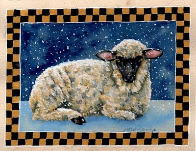 Midwinter's Sheep Poster by Beth Clark-McDonal