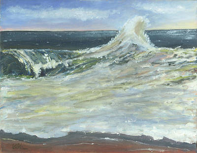 Mighty Nauset Wave Poster by Viola Holmgren