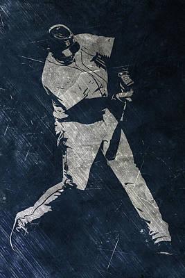 Miguel Cabrera Detroit Tigers Art Poster by Joe Hamilton