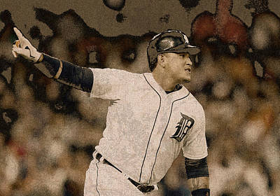 Miguel Cabrera Detroit Tigers Painting Poster
