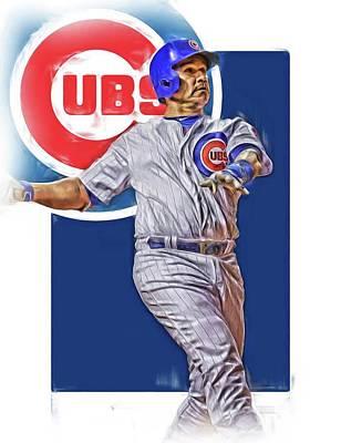 Miguel Montero Chicago Cubs Oil Art Poster