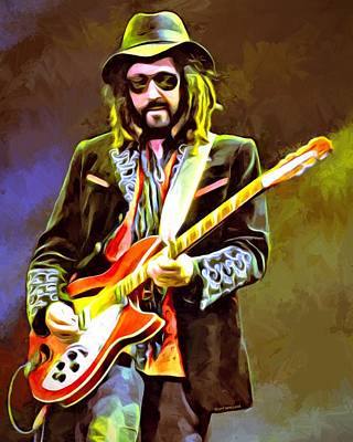 Mike Campbell Portrait Poster by Scott Wallace