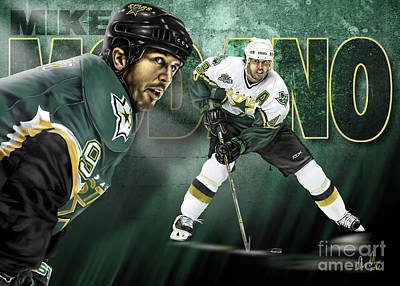 Mike Modano Poster by Don Olea