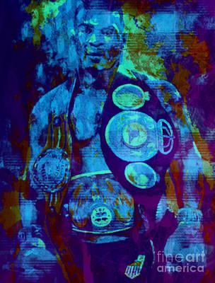 Mike Tyson Pop Art Pur Poster