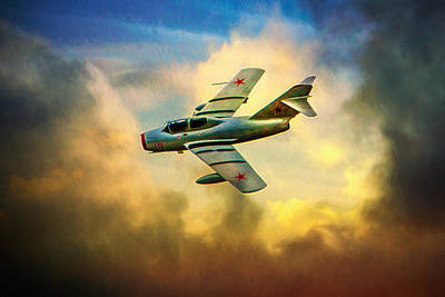 Poster featuring the photograph Mikoyan-gurevich Mig-15uti by Chris Lord
