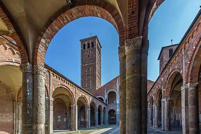 Milan Basilica Sant'ambrogio Poster by Melanie Viola