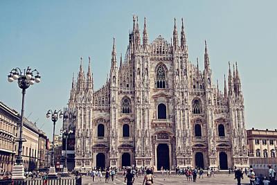 Milan Cathedral Poster by Benjamin Matthijs