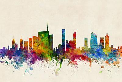 Milan Italy Skyline Poster
